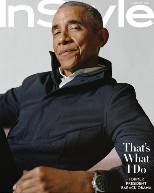 Барак Обама машҳур журнал муқоваси учун суратга тушди (фото)